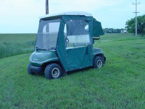 enclosed golf cart