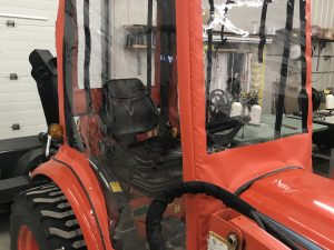 Enclosed cover for Kioti tractor