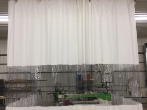 Industrial Shop Curtains, Closed