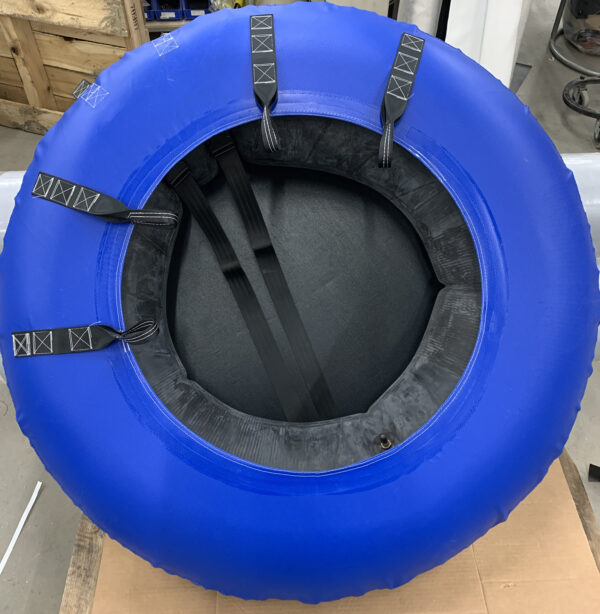Blue inner tube cover