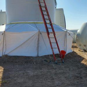Vestas Wind Turbine Grout Tent - exterior