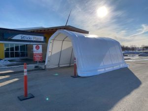 Covid-19 Drive-thru testing shelter
